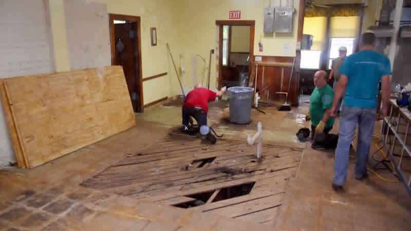 Repair/rebuild of old floor